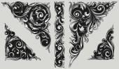 Decorative ornate design elements