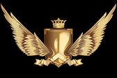 Vector golden winged insignia design