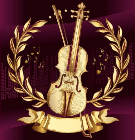 vintage golden violin