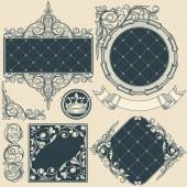 set of ornate frames and elements