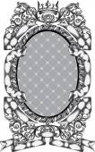 Retro ornate oval frame
