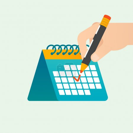 Deadline time management vector concept