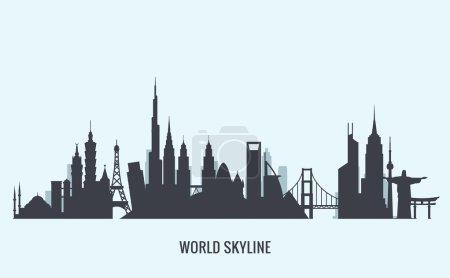 Illustration pour Graphiques vectoriels, illustration de ville plate, eps 10 - image libre de droit