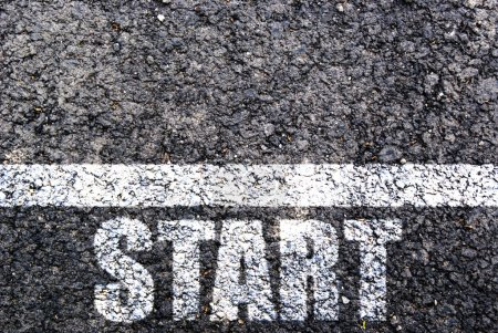 Photo for Start line on asphalt - Royalty Free Image