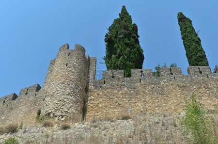 Walls of the templar castle of Tomar, Convent of Christ. Portugal