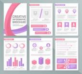 Vektorové šablonu pro víceúčelové prezentaci se snímky s grafy a diagramy. Infographic prvky, graf, graf, brožury