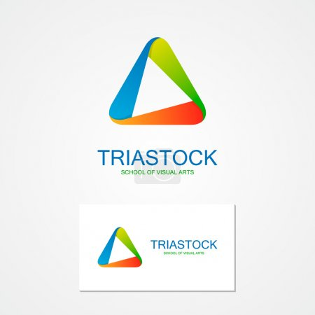 Set of unusual  triangle  logo