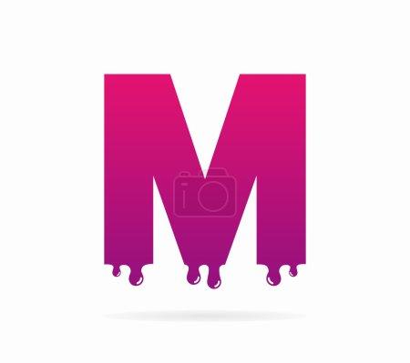 Letter M logo or symbol icon