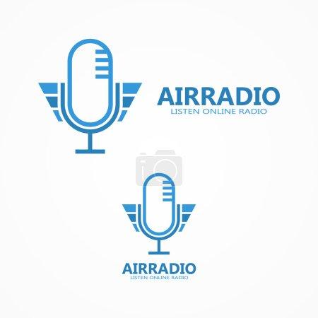 Vector microphone logo