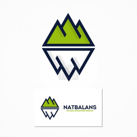 Vector logo combination of a mountain and iceberg