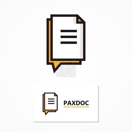 Illustration pour Élément de conception de logo vectoriel avec modèle de carte de visite - image libre de droit
