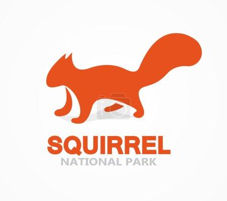 Vector squirrel logo or icon