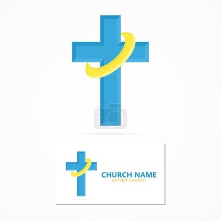 Vector christian church logo design