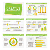 Vector template for multipurpose presentation slides with graphs and charts Infographic element and symbol icon template Powerpoint templates and themes
