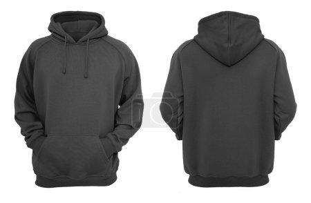 Black hoodie design template (front & back)....