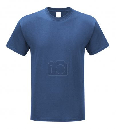 T-shirt front view on white background