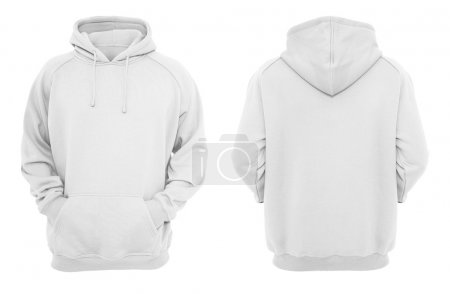 White hoodie design template (front & back)....
