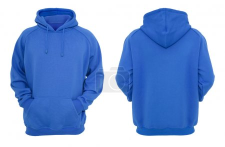 Photo for Blue hoodie design template (front & back). - Royalty Free Image