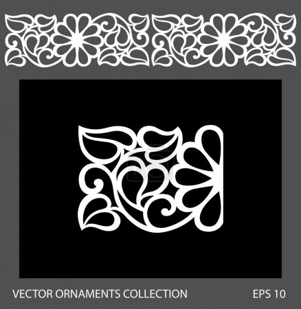 Illustration for Seamless ornament border pattern. Vector ornament collection - Royalty Free Image