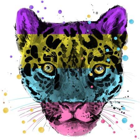leopard Tshirt graphics jaguar illustration