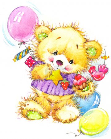 teddy bear for kid birthday background