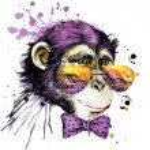 Cool monkey T-shirt graphics. monkey illustration ...