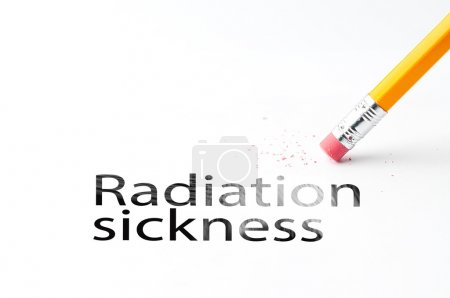Pencil with eraser Radiation sickness