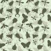 Insects. Bee. Beetles. Mosquito. Seamless