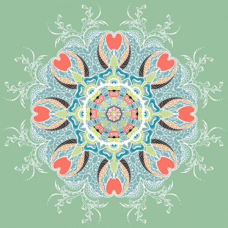Circular Floral Ornament