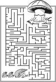 Mushroom labyrinth maze