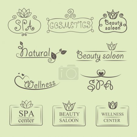 Illustration for Beauty and nature vector logos - Royalty Free Image