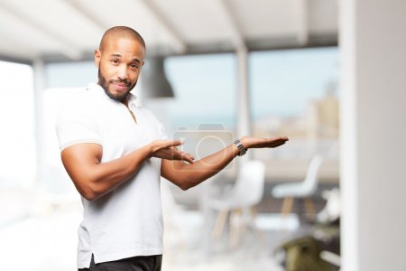 black businessman with happy expression