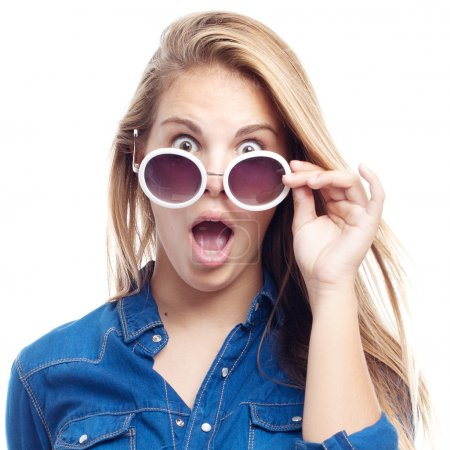 young cool woman surprised