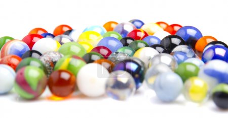 boules de verre coloré