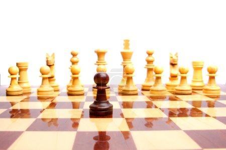 Wooden retro chess