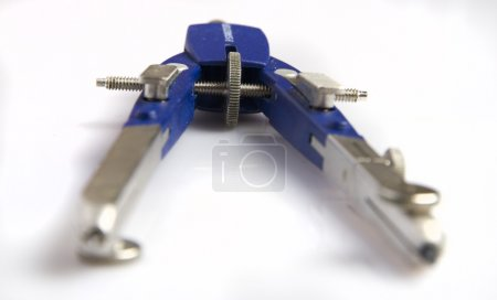 Closeup blue compass