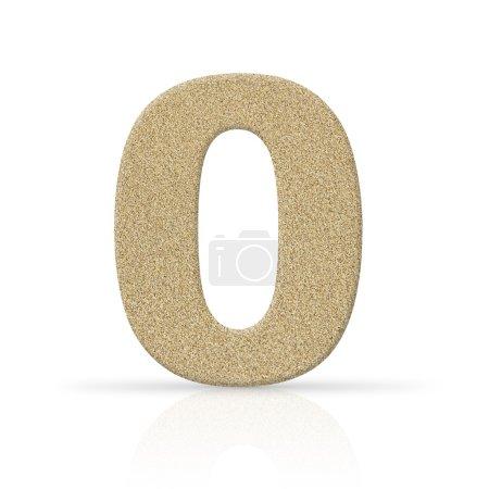 Sand zero number texture