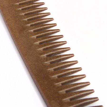 Close up brown comb