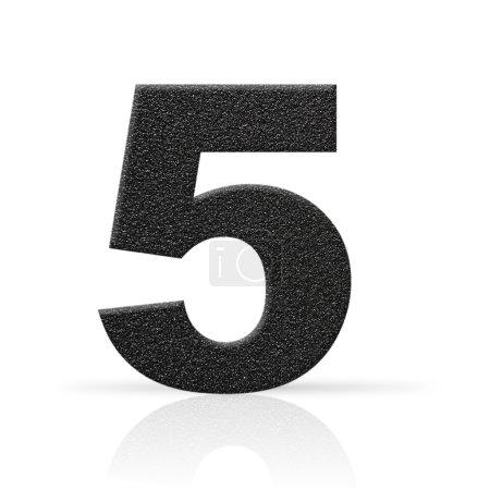 Five asphalt texture