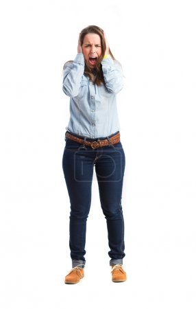 Photo for Young girl shouting - Royalty Free Image