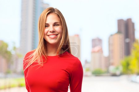 young cool woman smiling