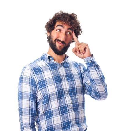 Photo pour Jeune homme barbu - image libre de droit