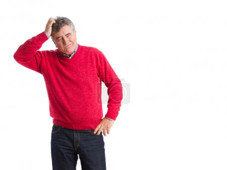 Photo pour Homme pensif posant - image libre de droit