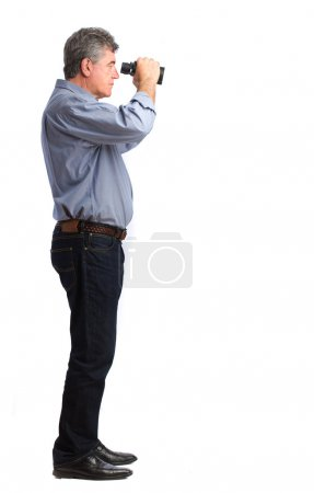 Man with a binoculars
