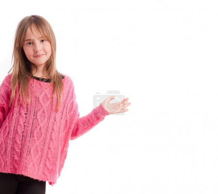 Young girl show gesture