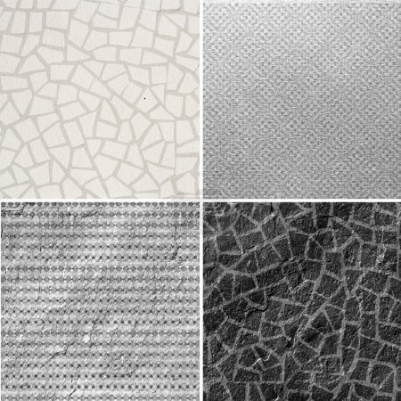 Photo for Group of mosaic textures - Royalty Free Image