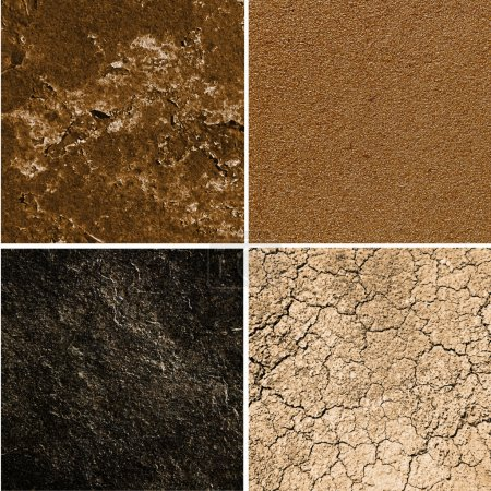 group of ground textures
