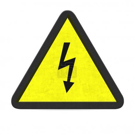Photo for Danger of electrocution sign - Royalty Free Image
