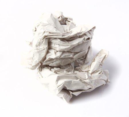 wrinkled paper ball