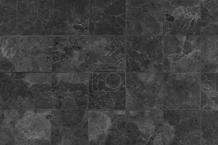 Photo for Black stones tiled floor - Royalty Free Image